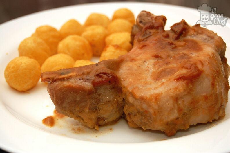 Costillas de cerdo con mostaza y miel 7