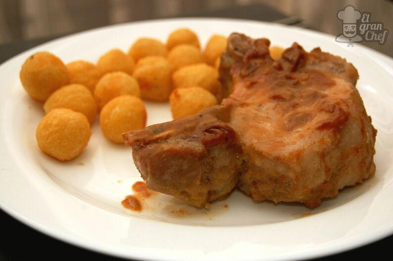 Costillas de cerdo con mostaza y miel
