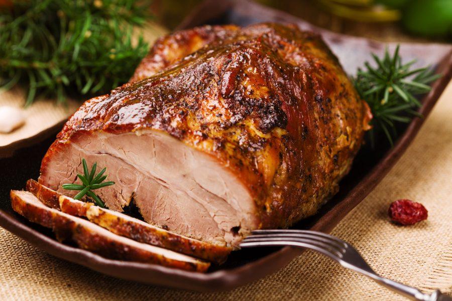Receta de pernil de cerdo navideña