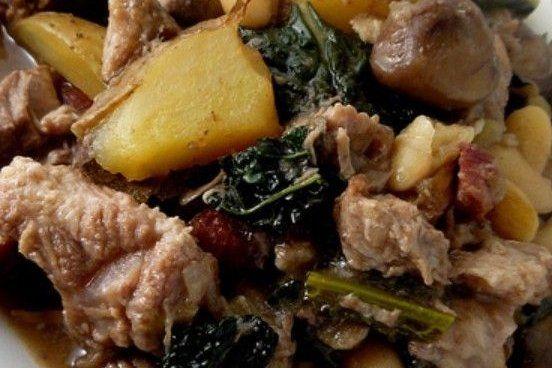 Carne de Cerdo con Acelgas